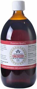 BLACK SEED OIL PURE COLD PRESSED STRONG Nigella Sativa Black Cumin Kalonji 1 LTR