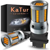 Ampoules ambre 3156 P27/7W BA15S LED Canbus sans erreur de clignotant de voiture