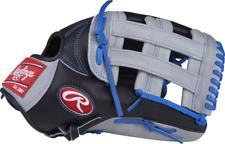 "New Rawlings PRO3039-6BGR Heart of the Hide Baseball Glove 12.75"" RHT Black/gray"