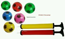 50pcs PLASTIC PVC FOOTBALLS flat packed uninflated With 2 Free Pump Wholesale