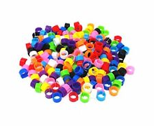 Honbay 200pcs Mix Color 8mm Foot Ring Bands Bird Clip On Leg Rings For Pigeon