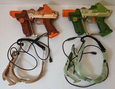 Lazer Tag Tiger Electronics Green Orange Team Ops Lot Laser Guns Glasses 2004
