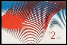 US 4954a Two Dollar Patriotic Wave $2 imperf NDC single MNH 2015