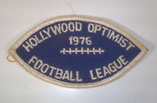 "Vintage 1976 Hollywood Optimist Football League 3.75"" Patch Badge"