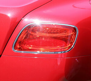 Bentley Continental GT and GTC 2012 TO 2017 Chrome Rear Light Trim