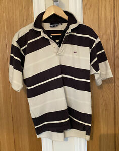 "Eden Park Rugby Shirt Navy/Ivory Short Sleeve Double Collared Size Men's ""S"" VGC"