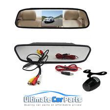 """4.3 """"coche de Visión Trasera Monitor en Espejo + Ir Impermeable Reverse Car Rearview cámara"""