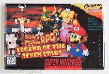 Super Mario RPG FRIDGE MAGNET (2 x 3 inches) video game box snes