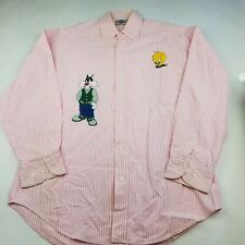 LOONEY TUNES - Acme Clothing - Mens Dress Shirt - TWEETIE SYLVESTER Pink Check S