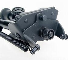 "6-9"" inch harris style Bipod Heavy Duty 50 Degree swivel tilt-level Pivot Black"