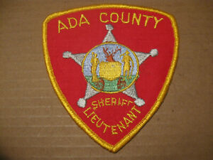 ADA COUNTY IDAHO SHERIFF POLICE PATCH (LIEUTENANT)