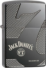 Zippo Choice Jack Daniel's Old No. 7, Deep Laser Engrave Black Ice Lighter 28817