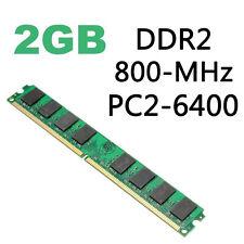 Barette Mémoire RAM 2 GO PC6400 DDR2-800MHz PC2-6400 DIMM Desktop 240 Pin AMD