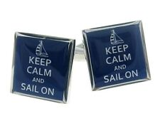 Keep Calm And Sail On Cufflinks Boat Sailor Nautical