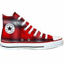 Converse All Star Chuck zapatos UE 46 UK 11,5 Plaid Limited Edition a cuadros Rojo