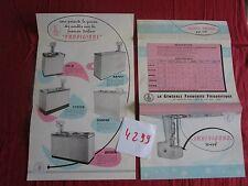 N°4299 / CARPIGIANI  dépliant meubles  fabrication de la créme glacée
