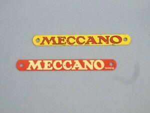 Meccano metal nameplates