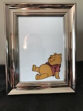Winnie The Pooh Silver Coloured Hand Painted Glass Picture Photo Frame
