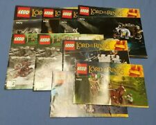 LEGO Lord of the Rings Hobbit Instruction Manuals Only 9472 9476 9473 79017