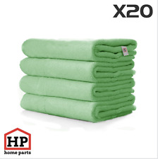 20 X Professional Washable Microfibre Cloths Extra-Large Super Thickness Green