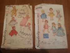 "Old Vintage Doll Clothes sewing patterns - 16"" & 18""  Dolls - Simplicity"