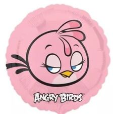 "Angry Birds 17"" Pink Round Foil Balloon - For Helium Or Air"