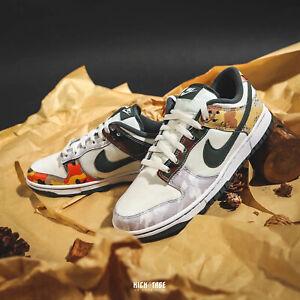 Nike Dunk Low SE Sail Multi-Camo Grey White Mens Sneakers Shoes DH0957-100