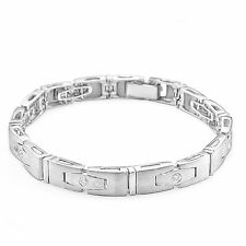 0 55 Ct Round Men S Vs1 Vs2 F G Natural Diamond Bracelet 14k White Gold 8 Inch