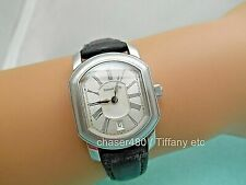 Tiffany & Co Atlas Mark Coupe Resonator Ladies Date Watch SS Guilloche