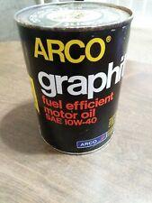 Vintage Arco Graphite 1 Qt Oil Can Los Angeles California