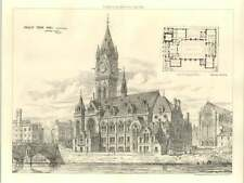 1875 Paisley Town Hall, Selected Design Rennison Scott Plan