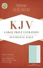 Holman KJV Large Print Ultrathin Reference Bible, 2015 Mint Green Leather Touch