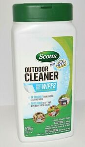 SCOTTS PLUS OXI CLEAN STAIN FIGHTERS OUTDOOR CLEANER CLEAN HEAVY DUTY WIPES 25