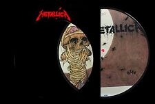 "Metallica One 10"" Vinyl Single Picture Disc 1988 Rare UK Vertigo METPD 510"