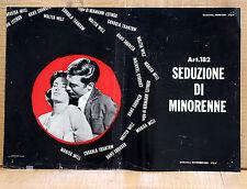 ART. 182 SEDUZIONE DI MINORENNE fotobusta poster affiche Hermann Leitngr AE7