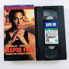 Rapid Fire (VHS,1992, Full Screen) Brandon Lee, Powers Boothe