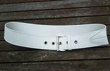Prada Belt Größe 32 80 XS White Silver Buckle 100% Leather Women Luxury