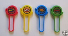 12 Plastic Superhero Disc Shooters Kid Toy Party Goody Bag Filler Favor Supply
