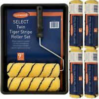 "Tiger 9"" Paint Roller Set Complete Decorating Kit With 6 Sleeves Tray Roller"
