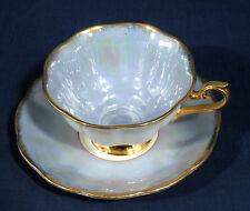 Royal Albert Bone China England Light Blue with Iridescence Cup and + Saucer Set