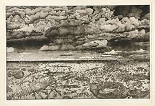 "Stephen Raul Anaya - Aquatint Etching ""Kuraje"" Artist Proof 1971 Yale Museum"