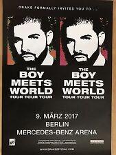 DRAKE  2017  BERLIN -- orig.Concert Poster - Konzert Plakat A1 xx