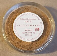 Sheer Cover ALMOND Mineral FOUNDATION SPF-15 LARGE FULL SIZE 4g NEW & SEALED!