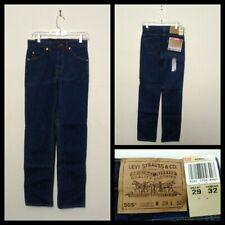 Levi's 505 Vintage Straight Leg Jeans Men's 29X32, Blue Orange Tab NWT Inv#F4780
