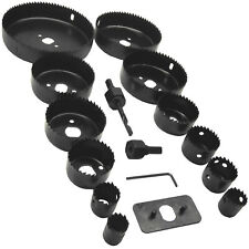 Hole Saw Cutting Set complete 16 Piece Hole Sawing Kit 19-127mm Cut Wood Alloy..