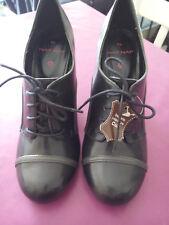 Bottines à lacets / low boots Naf Naf - Taille 39 - Semelle intérieur Cuir