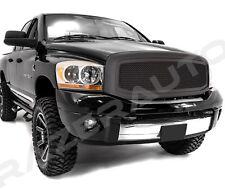 06-08 Dodge Ram1500+06-09 Dodge Ram 2500+3500 Matte Black Mesh Grille W/Shell