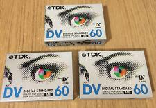 TDK mini DV Tapes DV60 Qty 3