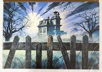 Steve Crisp Original Book Cover Art 'Allhallow's Eve' Novel Richard Laymon