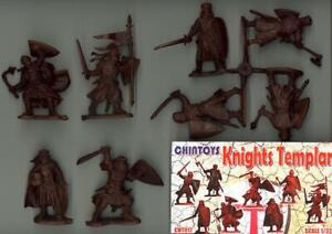 Chintoys 1/32 KNIGHTS TEMPLAR Figure Set BROWN